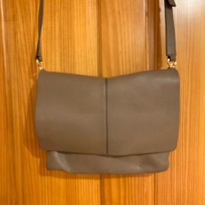 BCBG MAXAXARIA Tan Cross Body Leather Bag